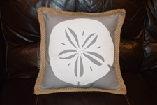Grey Sand dollar pillow