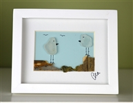 Mini 4x5in framed 2 bird scene
