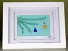 6x8in framed ornament holiday tree scene