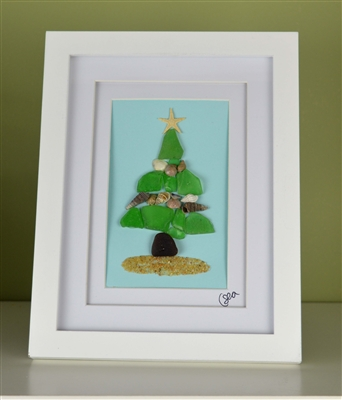 7x9in framed Christmas tree