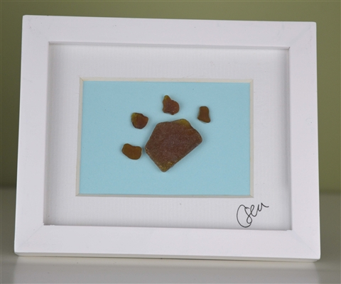 Mini 4x5in framed Paw print