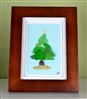 7in x 9in frame Christmas tree scene