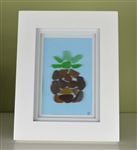 7in x 9in frame seaglass pineapple