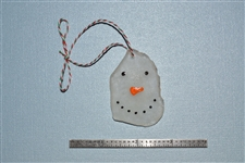 Snowman seaglass ornament