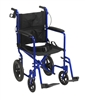 "Drive Medical Lightweight Transport Wheelchair 18"" Wide Seat  w/ Hand Brakes"