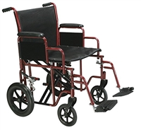 "Large Drive Medical Bariatric Heavy Duty Transport Chair 22"" Seat"