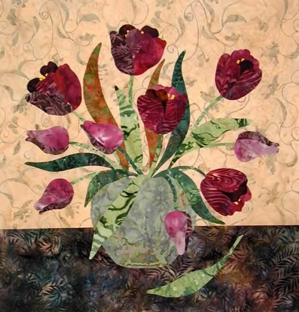 tulips applique quilt pattern