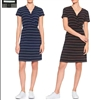 Famous Brand ladies short sleeve faux wrap dress.