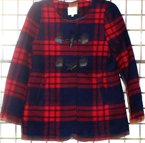 Famous Brand Womans Plaid Jacket