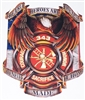 Firefighter The True Heroes Eagle Graphic Window Decal Sticker