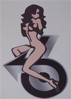 Girl riding Buick Turbo 6 trailer Window Decal Sticker