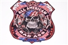 All American Bad Ass Biker Skull  Full color Graphic Window Decal Sticker