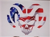Ram Head SKULL Full color Graphic Window Decal Sticker
