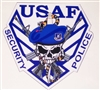 USAF Security Police Skull Full color Graphic Window Decal Sticker