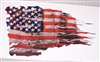 Harley Davidson American Flag Skull Full color Graphic Window Decal Sticker