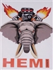 HEMI POWER Blown Elephant Full color Graphic Window Decal Sticker