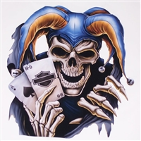 Harley Joker Skull  Full color Graphic Window Decal Sticker