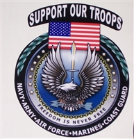 Support our troops Full color Graphic Window Decal Sticker