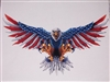Front facing Wings out American Flag Attack Eagle Full color Graphic Window Decal Sticker