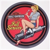 Harley Davidson Full Service Garage Circle Full color Graphic Window Decal Sticker