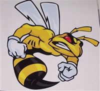Angry SUPER BEE #1 trailer Window Decal Sticker