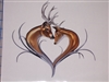 Tribal Deer Head Heart  trailer Window Laptop Phone Decal Sticker