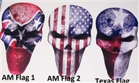 Flag Bone Skull Decals