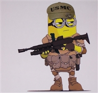 USMC Minion Full color Graphic Window Decal Sticker