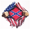 Ripped American Flag Rebel Flag  Full color Graphic Window Decal Sticker
