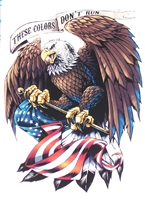 These colors don't run #2 American Flag Eagle Home of free Full color Graphic Window Decal Sticker