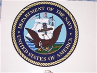 US Department of the Navy Circle  Full color Graphic Window Decal Sticker