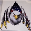 American Flag Eagle Rip Threw Trailer RV Motorhome Camper Car Truck SUV Window Decal Decals Sticker