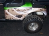 Green EZGO w/ Golf Crypiss Hood & Side Stripe Camo Graphics
