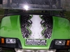 "Green EZGO w/ Golf Bionic 18"" Hood & Under Stripe Techno Graphics"