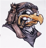 Angry Bird Aviation or Biker Attack Eagle Full color Graphic Window Decal Sticker