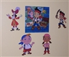 Junior Jake and Never land Pirate peel and stick decals