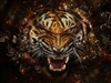 Glass Breaking TIGER #5 RV Trailer or Wall Mural Decal Decals Graphics Sticker Art