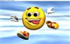 Smiley Face #2  RV Trailer or Wall Mural Decal Decals Graphics Sticker Art