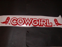 COWGIRL Windshield Rear Window decal