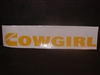 Cummins COWGIRL Windshield Decal