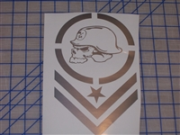 Metal Militia Army Stripe 7X11 Decal