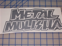 Metal Militia Skull Window 7X14 Decal