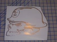 Metal Militia Skull Window 8X10 Decal/Sticker