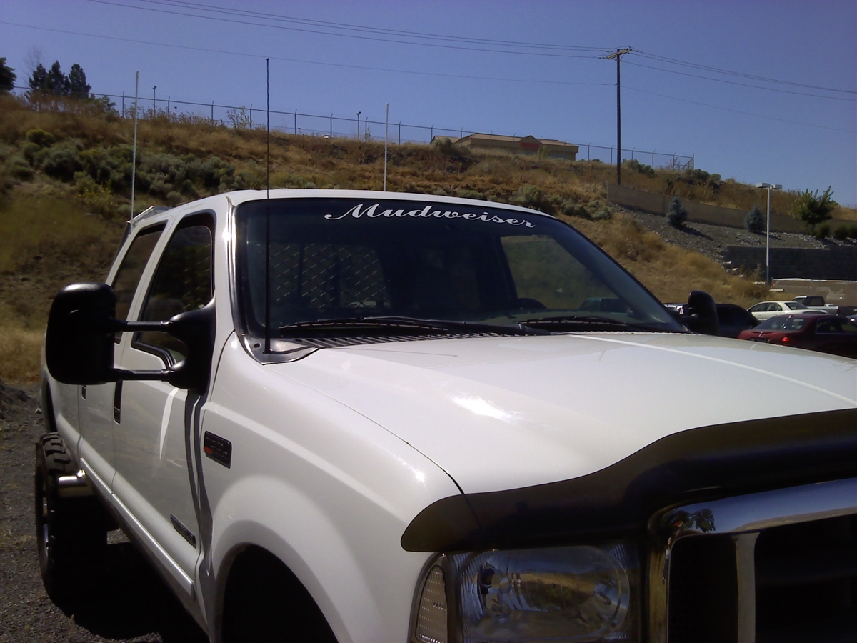 Mudweiser Windshield Decal - Front window decals for trucks