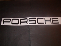 PORSCHE Windshield decal