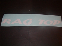 RAG TOP windshield decal