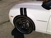 White Camaro GS w/  Black Hash Mark Fender Stripes
