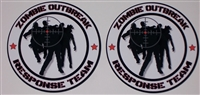 "8"" X 8"" Zombie Outbreak Response Team #3 Vinyl Decal Sticker"