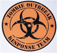 "8"" X 8"" Zombie Bio Hazard Outbreak Response Team #2 Vinyl Decal Sticker"