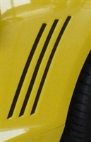 Yellow Camaro Side Vent Decal Set